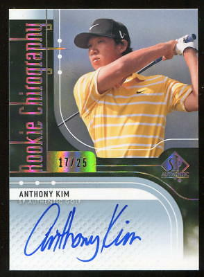 2012 SP Authentic Rookie Chirography Anthony Kim Auto RC 17/25 Rookie