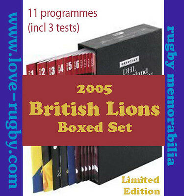 2005 - British Lions v NZ - 11 x Rugby Programmes BOXED 2005 - wales england a