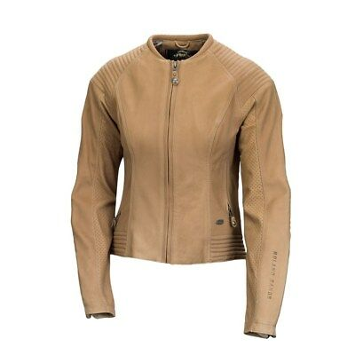 ROLAND SANDS DESIGNS Quinn Leather Motorcycle Jacket Tan Women's