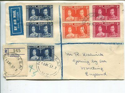 New Zealand Coronation cover to England, Nelson East 12 My 1937(First day)