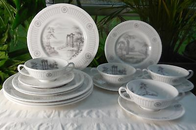 Vintage Tuscan Bone China Olympus Ancient Greek Design Dinner Set C1947-61