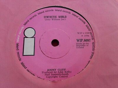 "Jimmy Cliff - Rare Irish Press 7"" - Synthetic World - Pink Island Reggae Gem!!"
