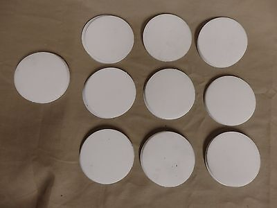 """Lot of ~1.5 Pounds of Teflon Discs 3"""" Diameter Assorted Thickness 52 Pieces"""