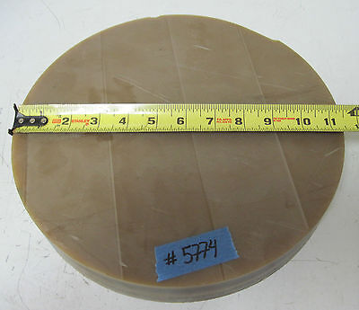 "ULTEM 2300 11.4"" Disk, 1.75"" Thick, 10 lb Polyetherimide Thermoplastic Plastic"