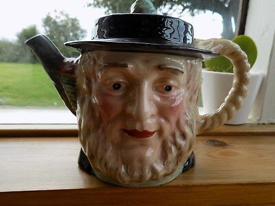 Beswick England Dickens Peggotty Character Teapot Hand Painted Vintage Collectab