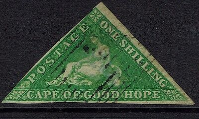 Cape Of Good Hope, Used, 6, Yellow Green, Nice
