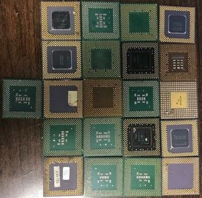 21 GOLD SCRAP CPU's FOR RECOVERY-FAIR SHIPPING