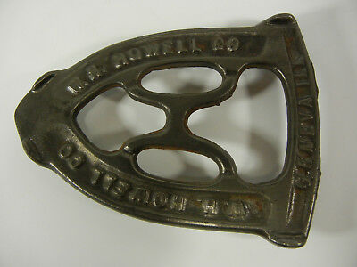 Cast Iron Trivet for Sad Iron (The W. H. Howell Co. Geneva, ILL)