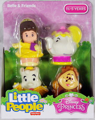 Fisher-Price Little People Figures Disney Belle and Friends Buddy 4-Pack