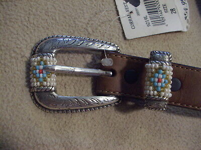Tony Lama size 28 beaded belt