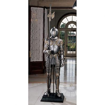 Medieval Gothic Armor Museum Replica Full Size King's Guard Knight Statue NEW