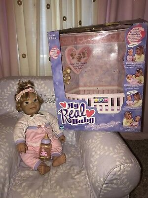 My Real Baby Interactive Hasbro 2000 With Box Rare Works Perfect!