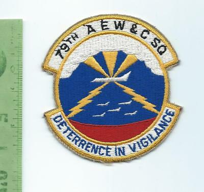 US Air Force USAF  79th AEW & C Squadron    patch