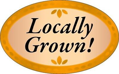 """1.25"""" X 2"""" Locally Grown Labels 500 Per Roll Great Stickers"""
