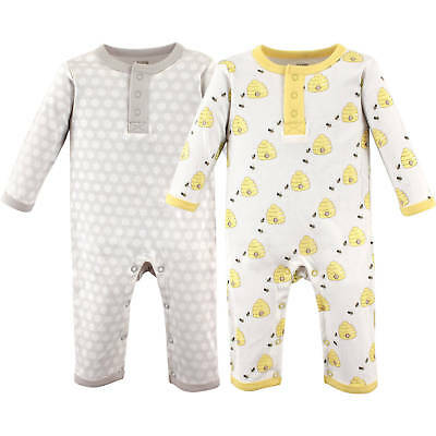 Hudson Baby Boys 2 Pack Cotton Footless Jumpsuit Sleepers 0-3 3-6 6-9 Months