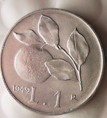 1949 ITALY LIRA - AU/UNC - RARE Type - Great Collectible Coin - Lot #117