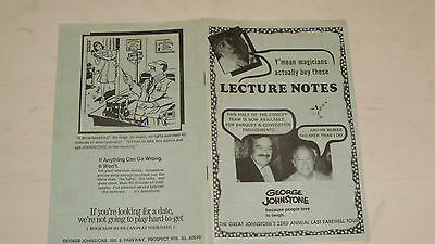 George Johnstone: LECTURE NOTES  magic trick routines