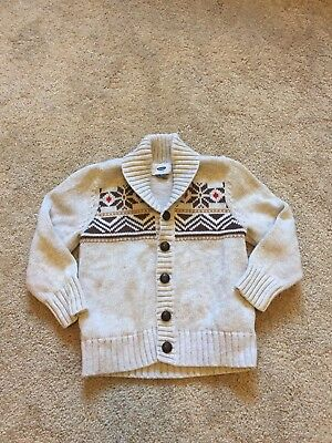 GOOD USED CONDITION Toddler Boys Tan OLD NAVY Cowl Neck Sweater Size 3T