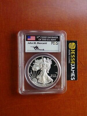 2015 W Proof Silver Eagle Pcgs Pr70 Dcam Mercanti First Day Issue Fdi Denver