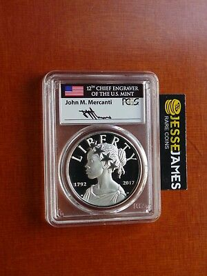2017 P Liberty Proof Silver Medal Pcgs Pr69 Mercanti First Day Issue Washington