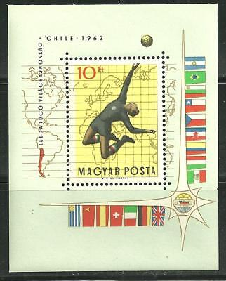 Hungary 1453 Mnh S/s World Cup Chile 1962 Scv 7.00