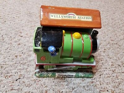 THOMAS TANK ENGINE-Percy and the Dragon 1994 Schmid Allcroft Ceramic Figurine