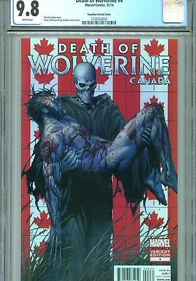 Death of Wolverine #4 CGC 9.8 Canadian Cover Marvel Comics 2014