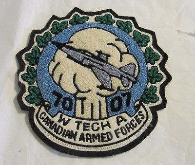 Canadian Air Weapons Technicians WTA Bomber Jacket Patch Armed Air Forces RARE