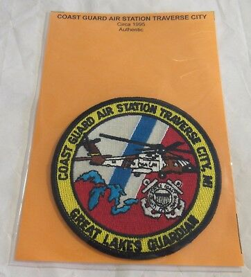 Coast Guard Air Station Traverse City MI Helicopter Patch Great Lakes Guard