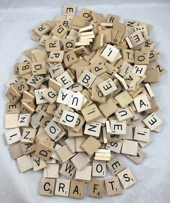 396 Wooden Scrabble Tiles Letters Replacement Game Piece Craft Wood Lot Vintage