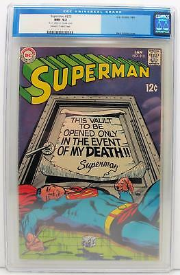 Superman #213 CGC 9.2 (NM-) DC Silver Age, Old CGC Label