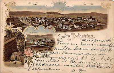 Tavannes Switzerland Swiss Postcard 1897 Cancel Postmark Buildings View hj1876