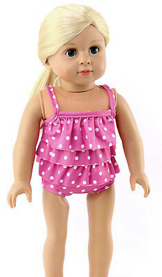 """Polka Dot Swimsuit Bathing Suit for 18"""" American Girl Doll Clothes Sew Beautiful"""