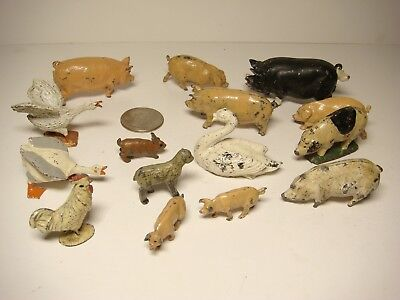Vintage Britains Miniature Diecast Metal  Pig Collection + other farm animals