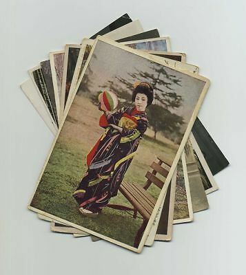 Lot (7) Japan Japanese Foreign Postcards Beautiful Geisha Woman Costume bv2001