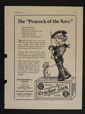 1918 CRACKER JACK ADVERTISEMENT (9 1/4 x 12)