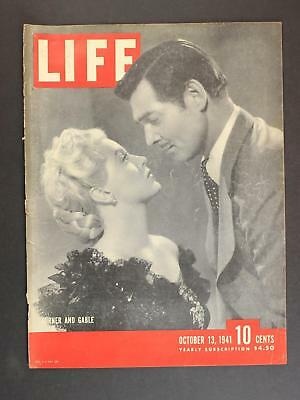 1941 LIFE Magazine cover (ONLY) LANA TURNER & CLARK GABLe in HONKY TONK