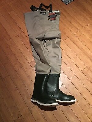 NWT  Simms Gore-Tex Waders Guide Weight Bootfoots Large 12 $500 MSRP