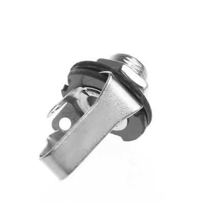 Mono Jack Socket For Electric Guitar Replacement Parts Durable 6.35mm Black Kit