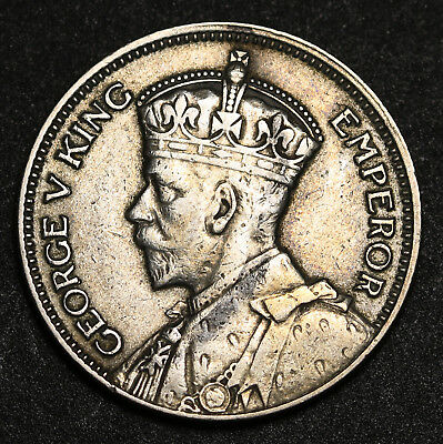 1934 New Zealand Shilling KM# 3 George V Silver Coin