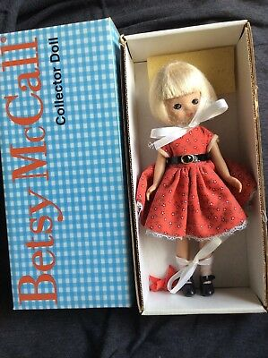 """Betsy McCall 8"""" doll BLONDE BETSY IN A RED DRESS"""