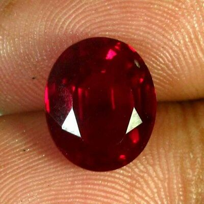 7.35 Ct Natural Blood Red Mozambique Ruby Facet Cut Oval Ring Size A+++ Gemstone