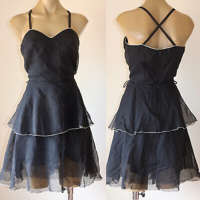 """French! Vintage Sheer Floaty """"Vera Mont"""" Party Dress 10"""
