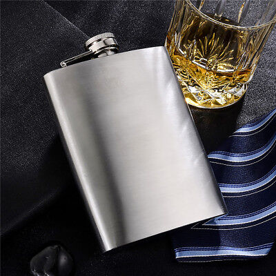 Portable Stainless Steel Hip Flask Flagon Polish Wine Pot Whisky Bottle 8oz New