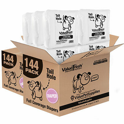 Diapers for Dogs (Non-Wrap) by ValueWrap, X-Small, 288ct
