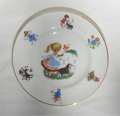 Vintage Arklow Ireland Little Bo Peep Nursery Rhyme Child's Plate