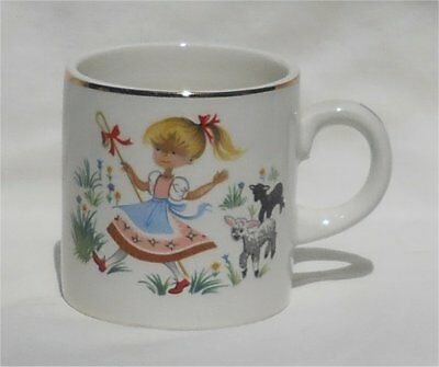 Vintage Arklow Ireland Little Bo Peep Nursery Rhyme Child's Mug