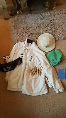 SET of Cricket Umpires Gear. Bat Good Condition. XL but fit all really.