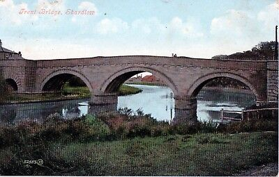 Postcard -  View of Trent Bridge, Shardlow, Derbyshire - posted in 1907.
