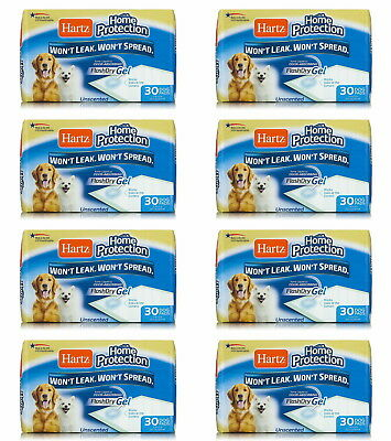 """Hartz Home Protection Dog Pads 21"""" x 21"""", 240ct (8 x 30ct)"""